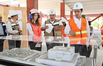 Supervisan obras en Hospital de Hidalgo