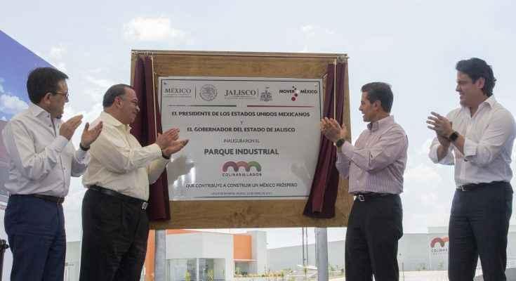 EPN inaugura parque industrial de Lintel
