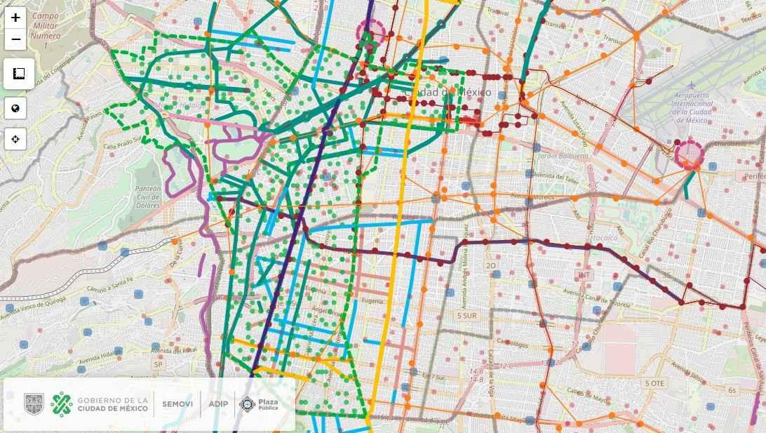 ¿Qué se puede encontrar en el mapa ciclista de la CDMX?