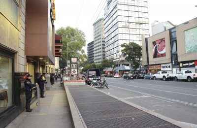 Liberan paso peatonal y accesos a Metro Chilpancingo