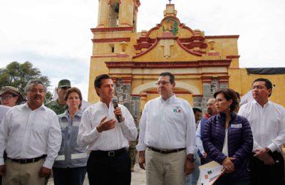 Evalúan labores de reconstrucción del patrimonio cultural de Tlaxcala