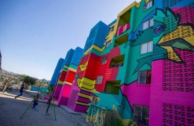 Continúa realización de mural monumental en Tijuana