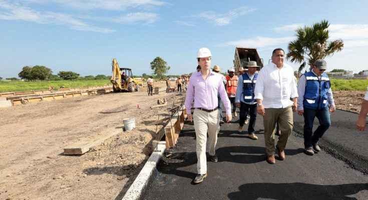 Supervisan avance del Parque Agroindustrial en Puerto Chiapas