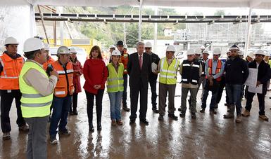 SCT supervisa avance del Tren Interurbano México-Toluca
