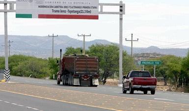 Destacan inversión en infraestructura carretera de Zacatecas