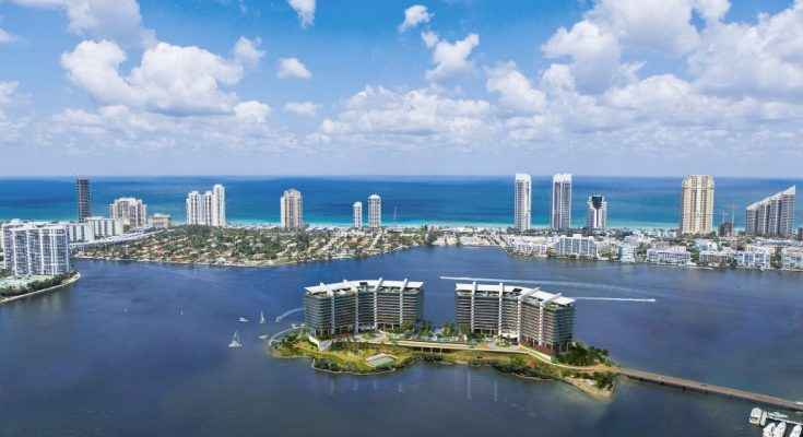 Desarrollo inmobiliario en una isla privada