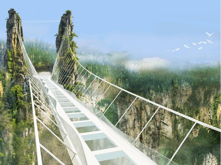 Contará China con impresionante puente peatonal de cristal ...