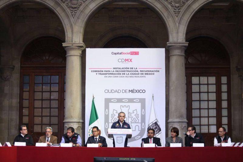 Mancera instaló Comisión para reconstruir CDMX