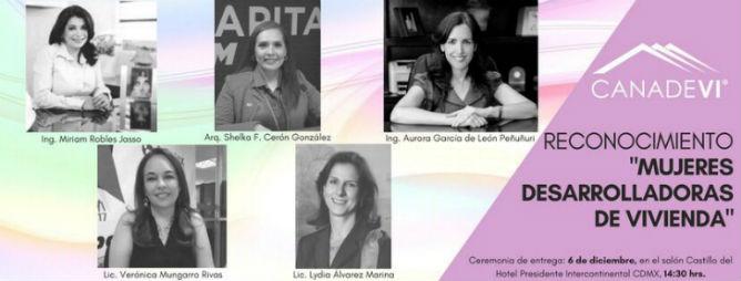 Canadevi premia trayectoria de mujeres desarrolladoras