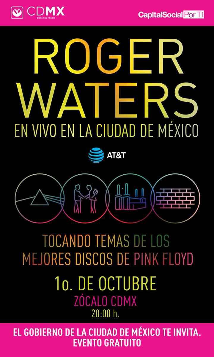 Cantará Roger Waters en el Zócalo de la CDMX