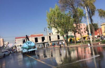 Realizan limpieza tras instalación de romerías en CDMX