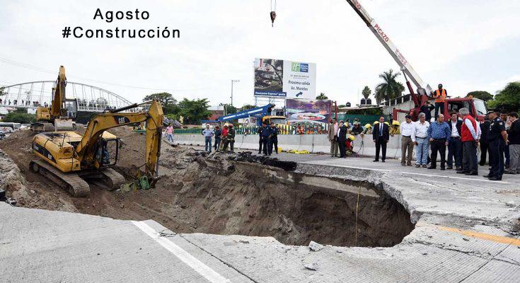 Cubren socavón en Paso Exprés de Cuernavaca