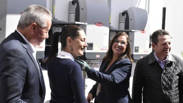 """Clauida Sheinbaum pone en marcha el proyecto """"Ciudad Solar"""""""