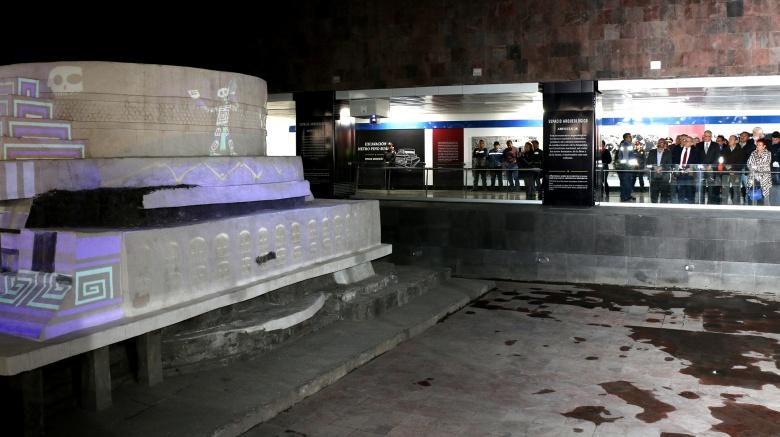 Rehabilitan el monumento a Ehécatl en Metro Pino Suárez