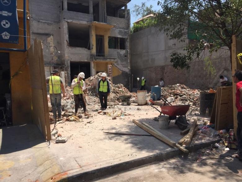 Sobse ha demolido 30 edificios riesgosos tras el sismo 19S