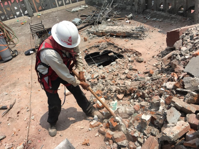 Sobse concluyó demolición de edificio en Cuauhtémoc