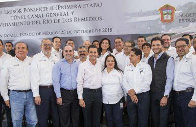 Destaca Peña Nieto infraestructura hidráulica en Edomex