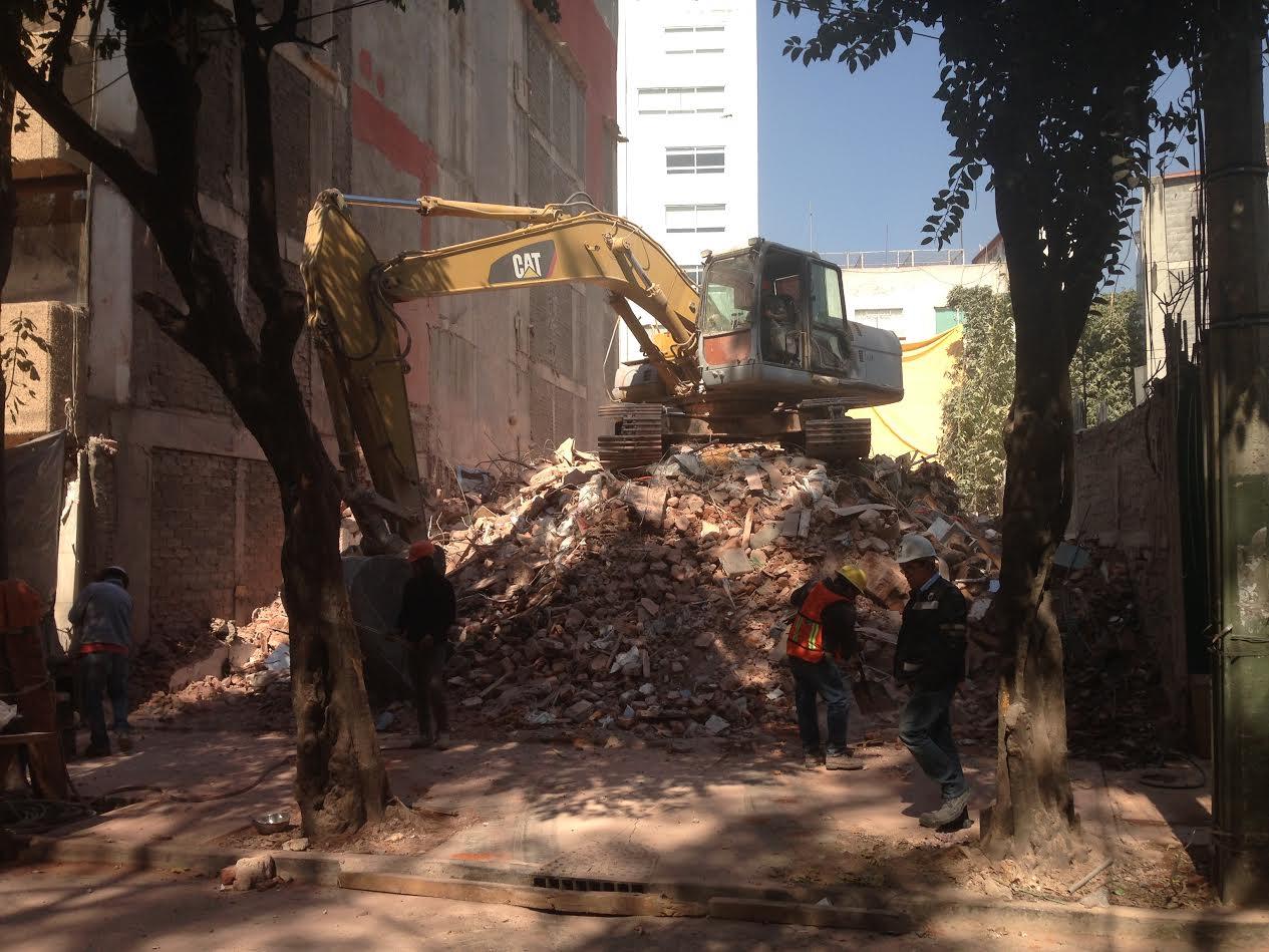 Concluye demolición de Ámsterdam 25