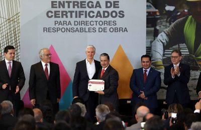 Edo Mex otorga certificados a Directores Responsables de Obra