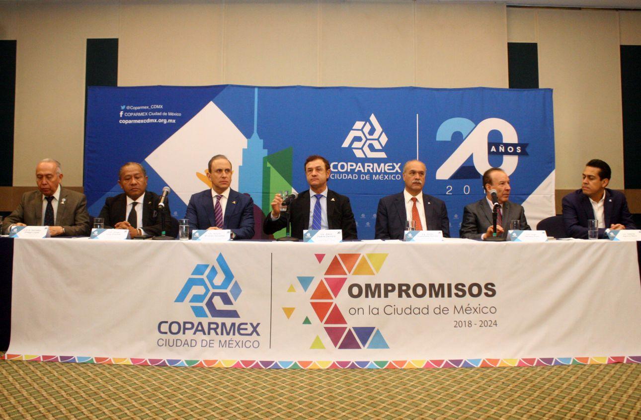 Coparmex presentó propuestas a candidatos por CDMX