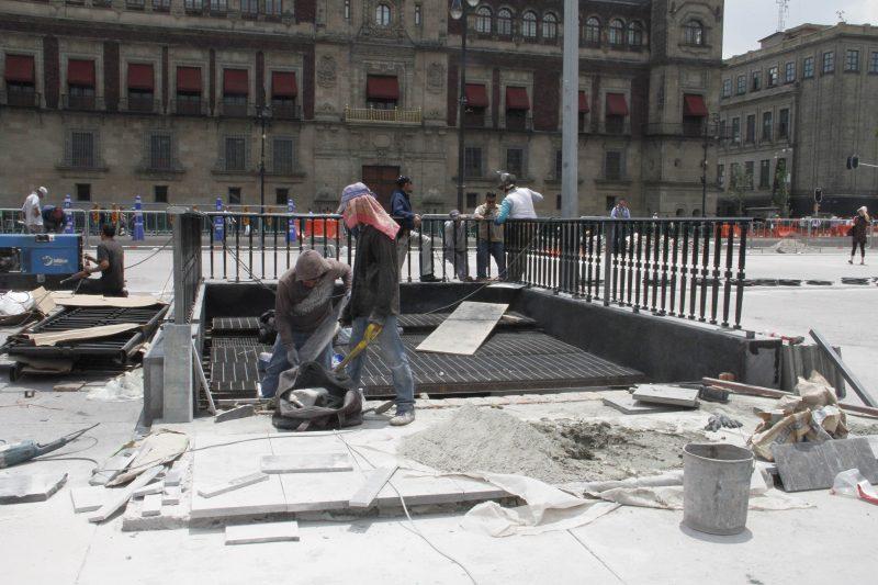 Obras de renovación del Zócalo llegan al 99% de avance